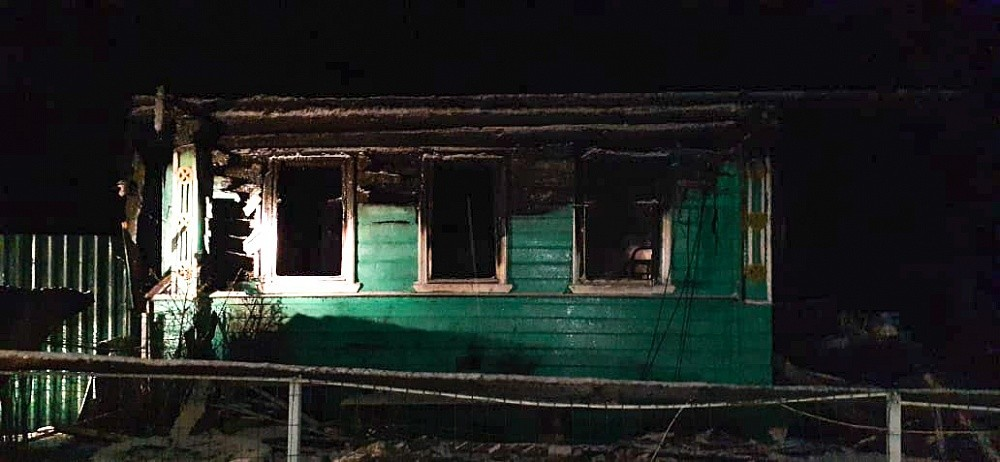 В Тверской области во время пожара погиб мужчина