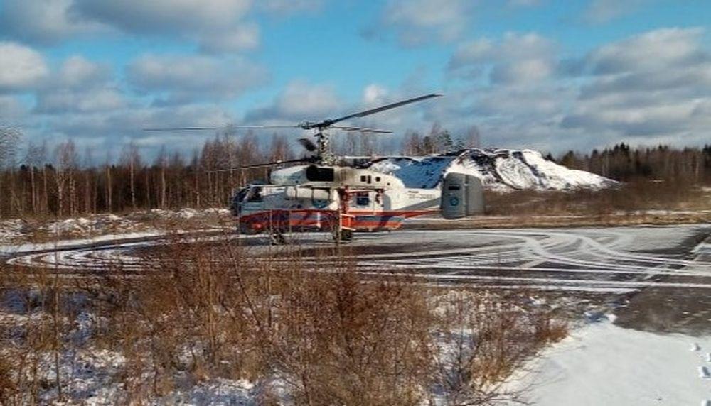 Из Нелидово вертолет санавиации доставил местную жительницу в тверскую ОКБ