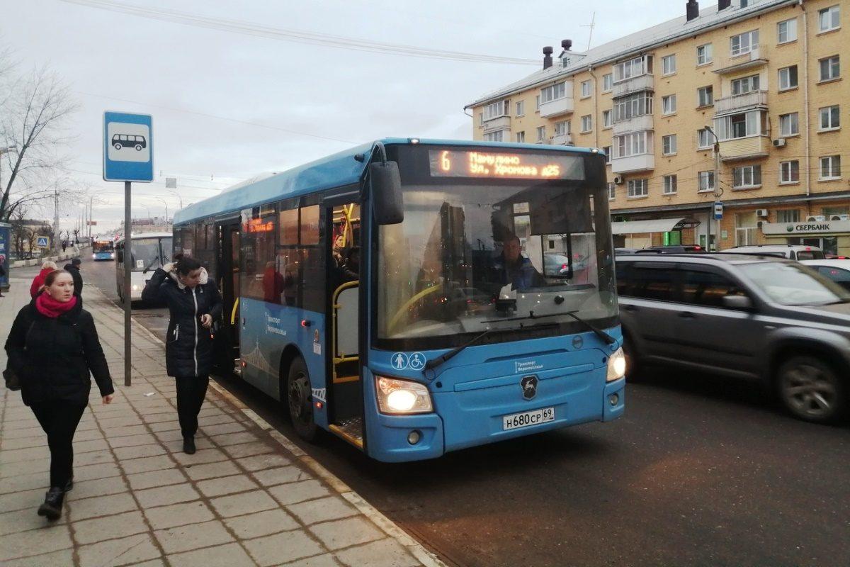19 февраля на маршрут №6 в Твери вышли 13 новых автобусов