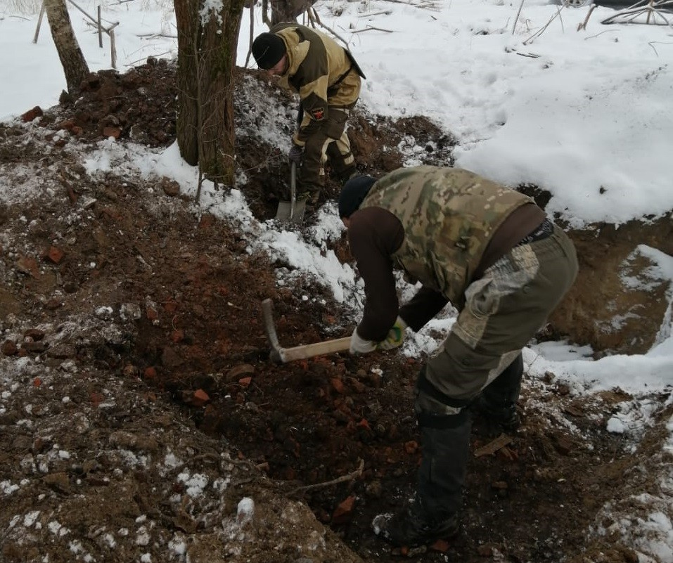 В Ржевском районе московские поисковики обнаружили останки 51 красноармейца