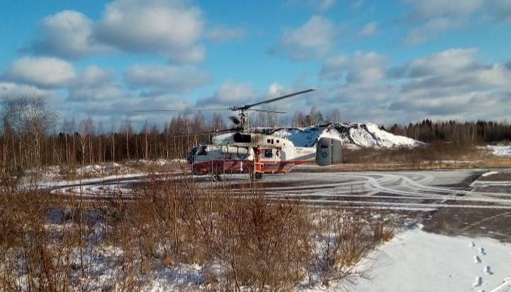 Вертолет МЧС доставил пациента из Нелидово в Тверь