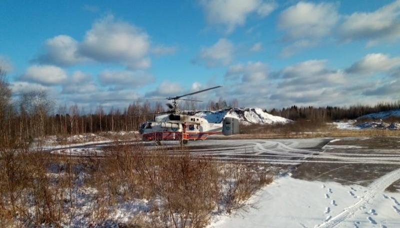 Пациентку из Нелидово доставили на вертолете в Тверь