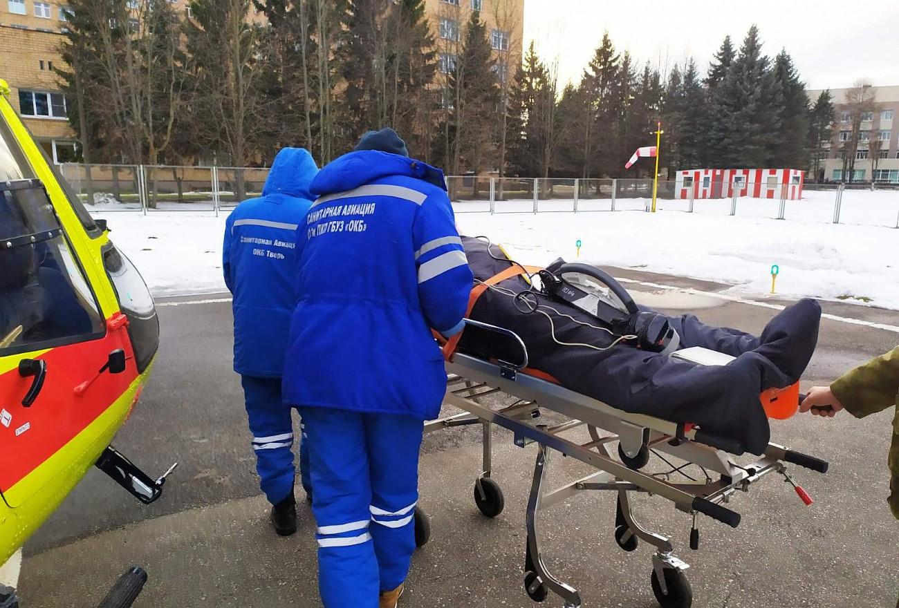 Санавиация спасает жизни людей в Тверской области
