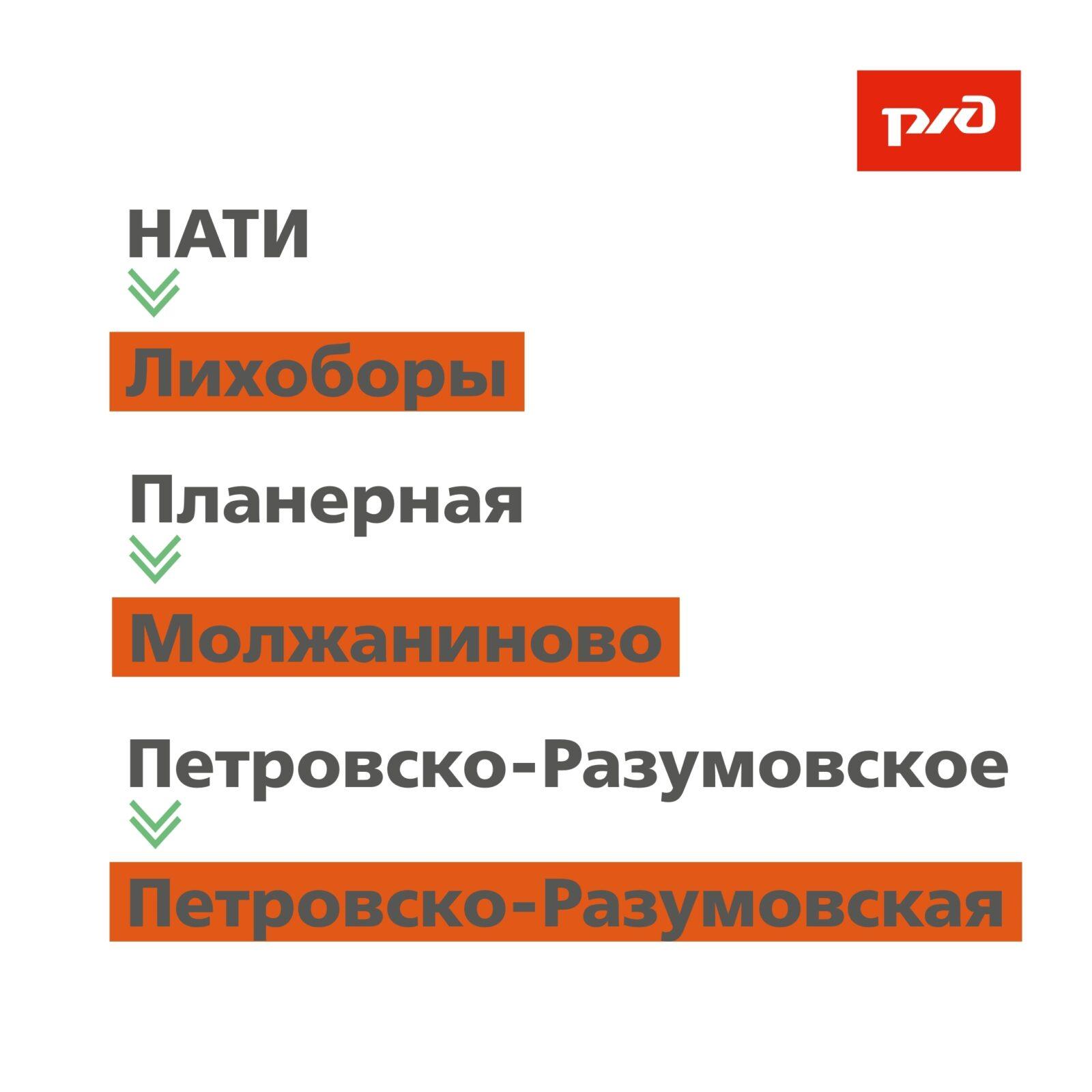 На железнодорожном маршруте Тверь-Москва переименуют остановки