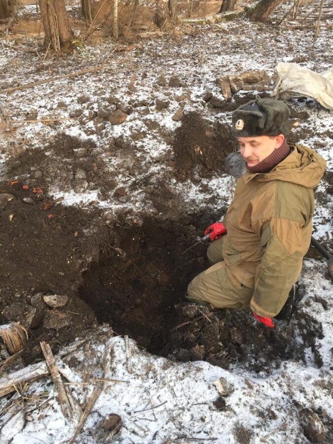 Кабаны раскопали останки красноармейцев в Тверской области