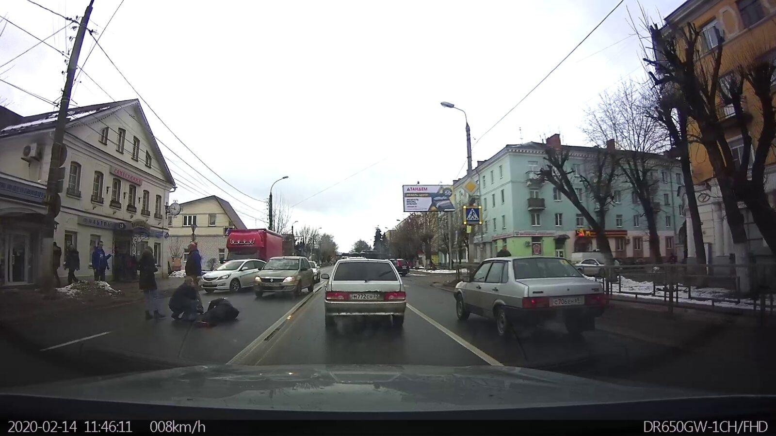 Пешехода сбили на одном из самых опасных переходов в Твери