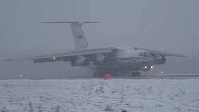 Появилось видео полётов Ил-76 в Тверской области при тяжелых метеоусловиях