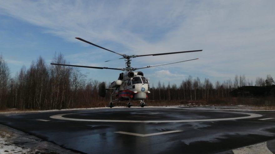 Женщина из Нелидово была доставлена в Тверь вертолётом МЧС