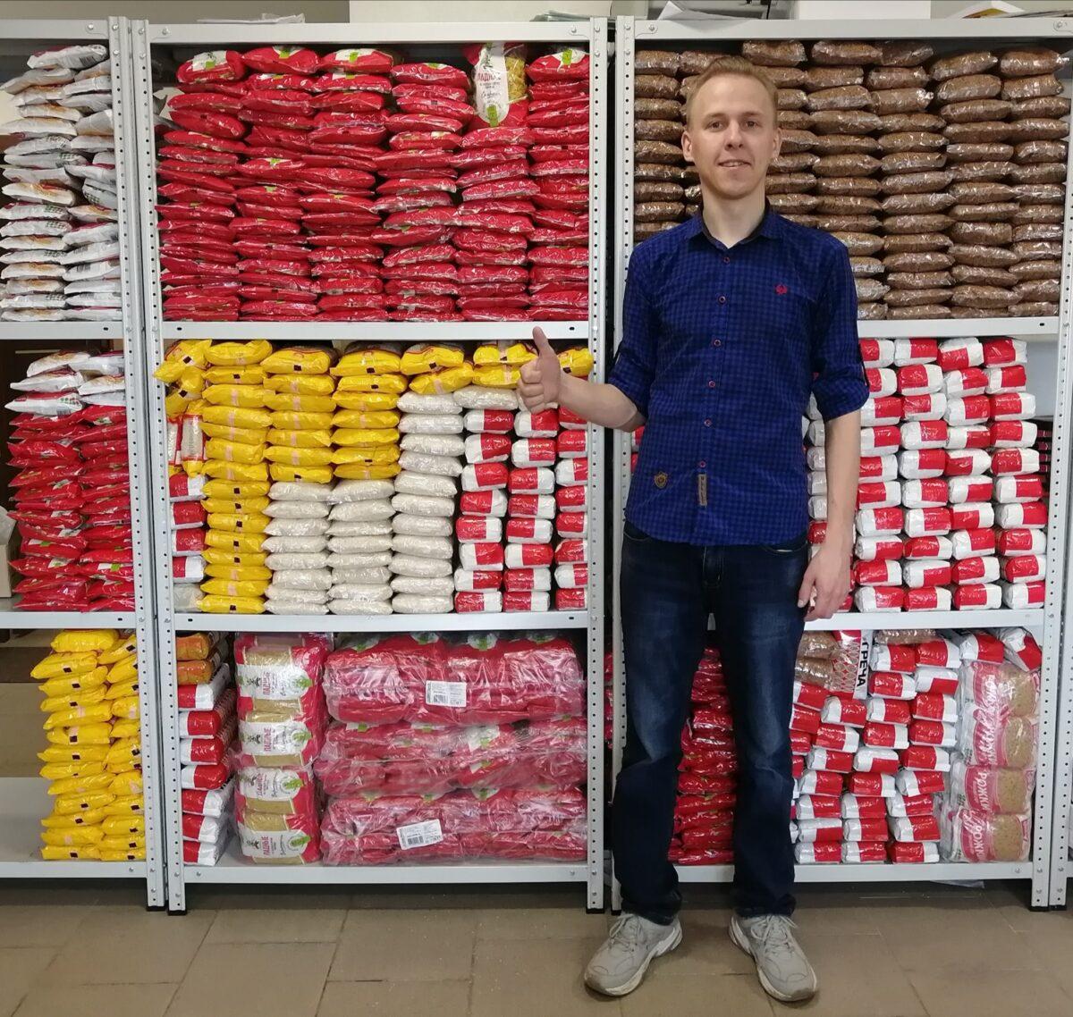 Тверской активист купил 667 пачек гречки