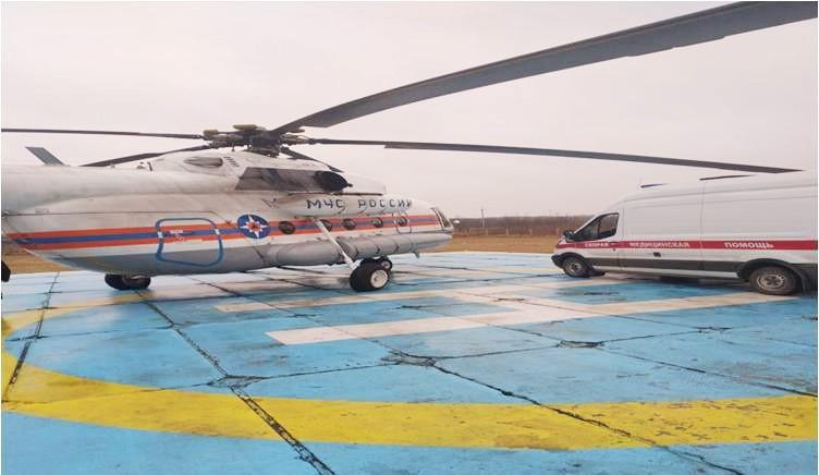 С помощью вертолёта спасли жизнь мужчины в Тверской области
