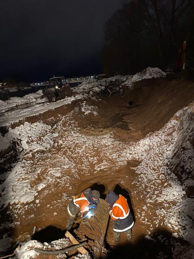 В Твери отремонтировали водовод, лишивший воды жителей нескольких районов города