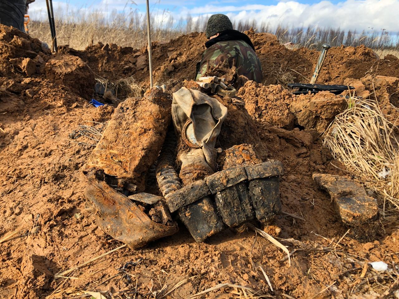 В Тверской области обнаружили останки десяти красноармейцев