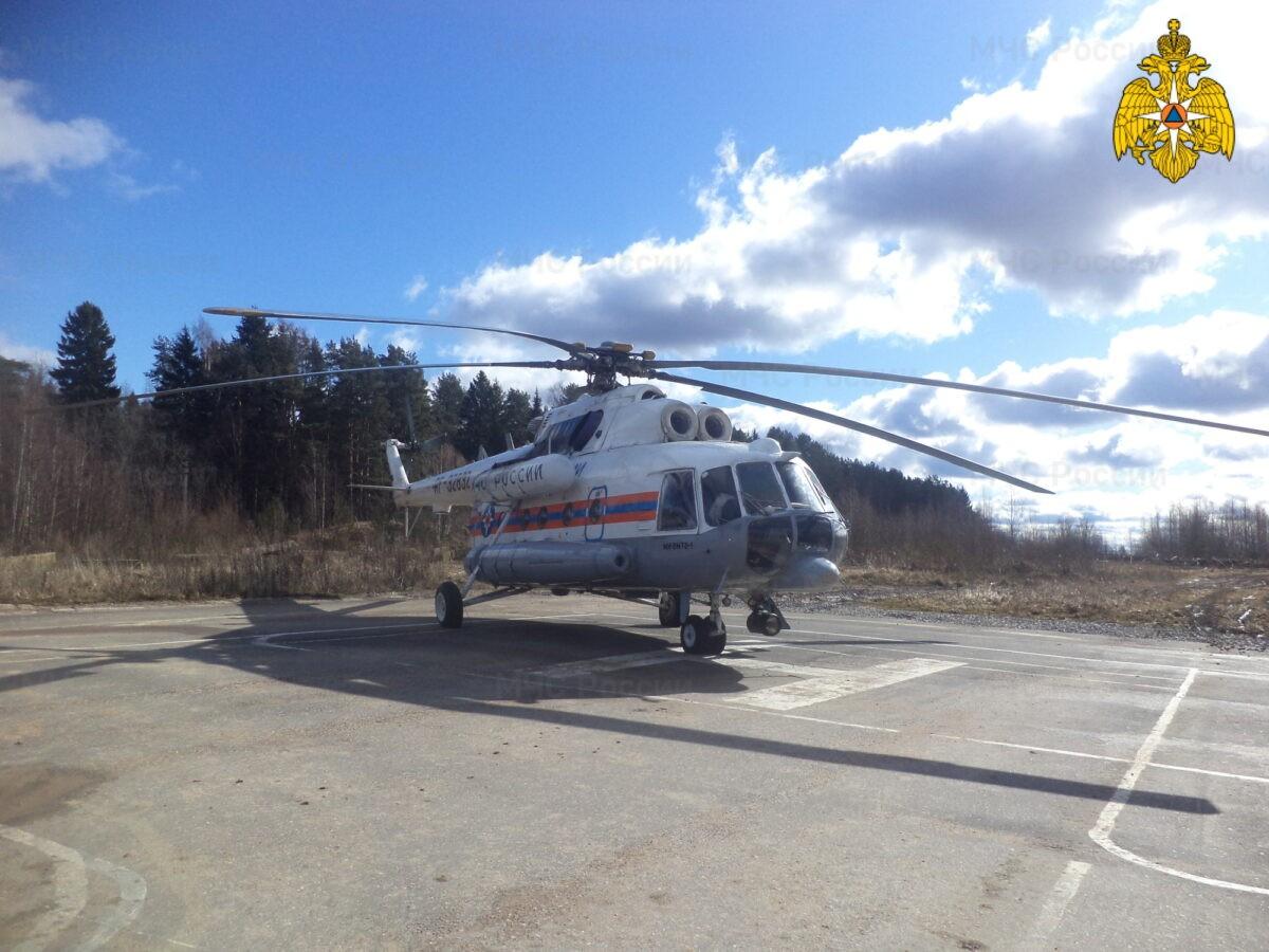 Жителя Тверской области экстренно доставили вертолётом в Тверь