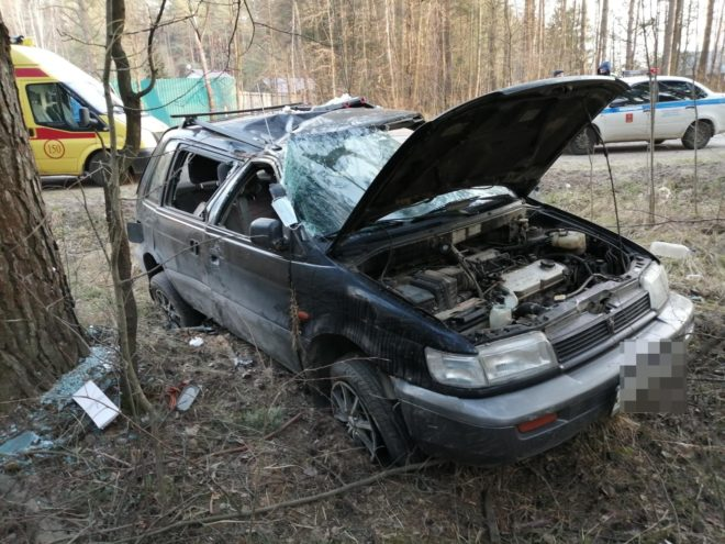 В Тверской области опубликовали фото аварии с двумя пострадавшими