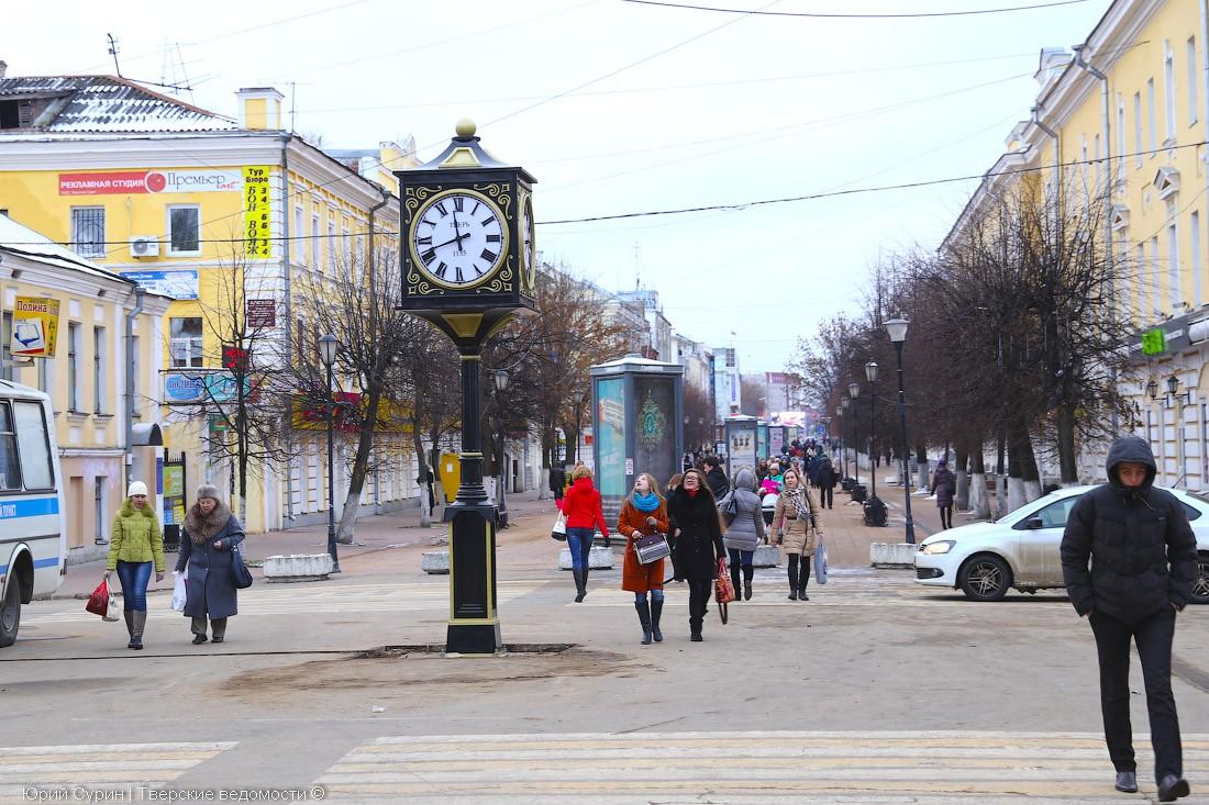 Многие жители Твери вышли на улицы Твери и снизили городской индекс самоизоляции