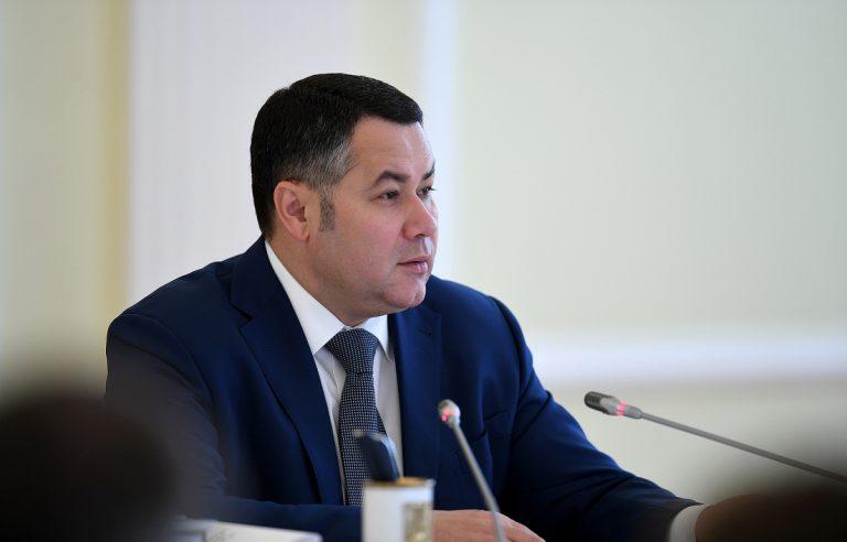 Игорь Руденя в прямом эфире обратится к жителям Тверской области
