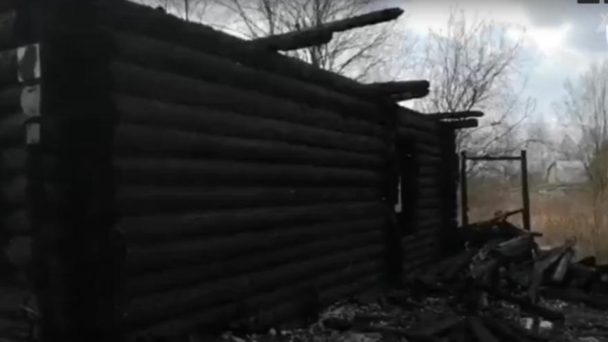 Опубликовано видео с места пожара в Тверской области, где погибли люди