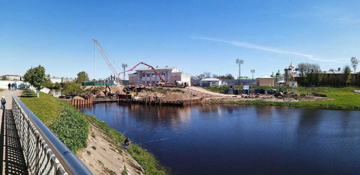 В Твери полным ходом идет строительство моста через Тьмаку