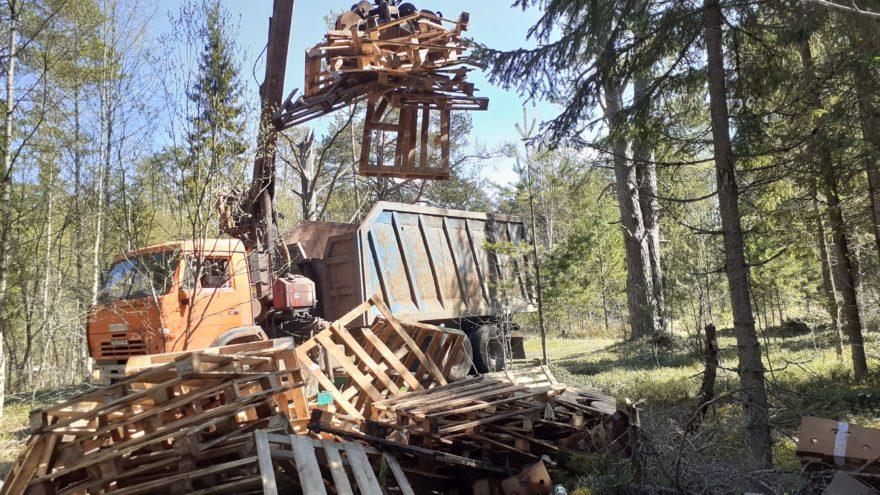 Главу поселения в Тверской области заставили убрать свалку