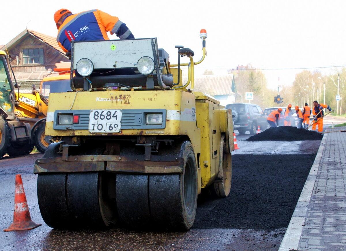 В Твери завершаются основные работы по ремонту Московского шоссе