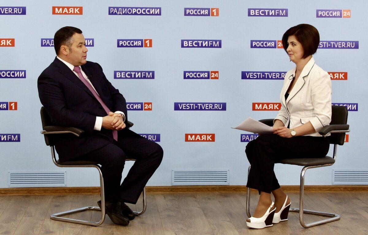 Игорь Руденя ответил на вопросы о ситуации с коронавирусом в Тверской области