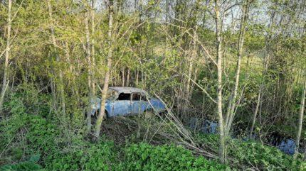 В Тверской области пьяный водитель без прав в кювете врезался в дерево