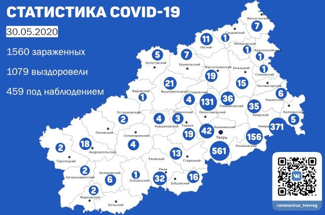 В Тверской области еще 55 человек выздоровели после коронавируса