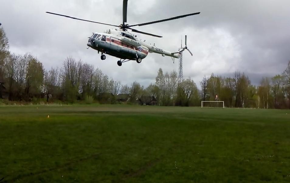 Вертолётом санавиации ребёнка экстренно транспортировали в Тверь