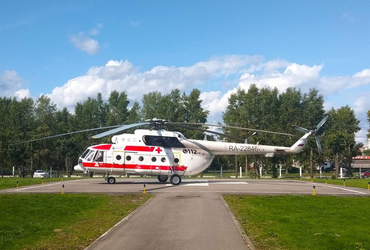 Вертолет санавиации доставил в Тверь пациента из Удомли