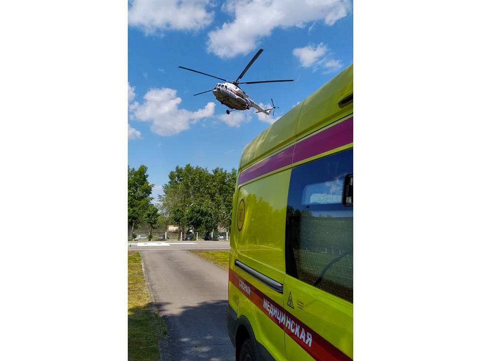 Вертолёты санавиации вылетали в четыре района Тверской области