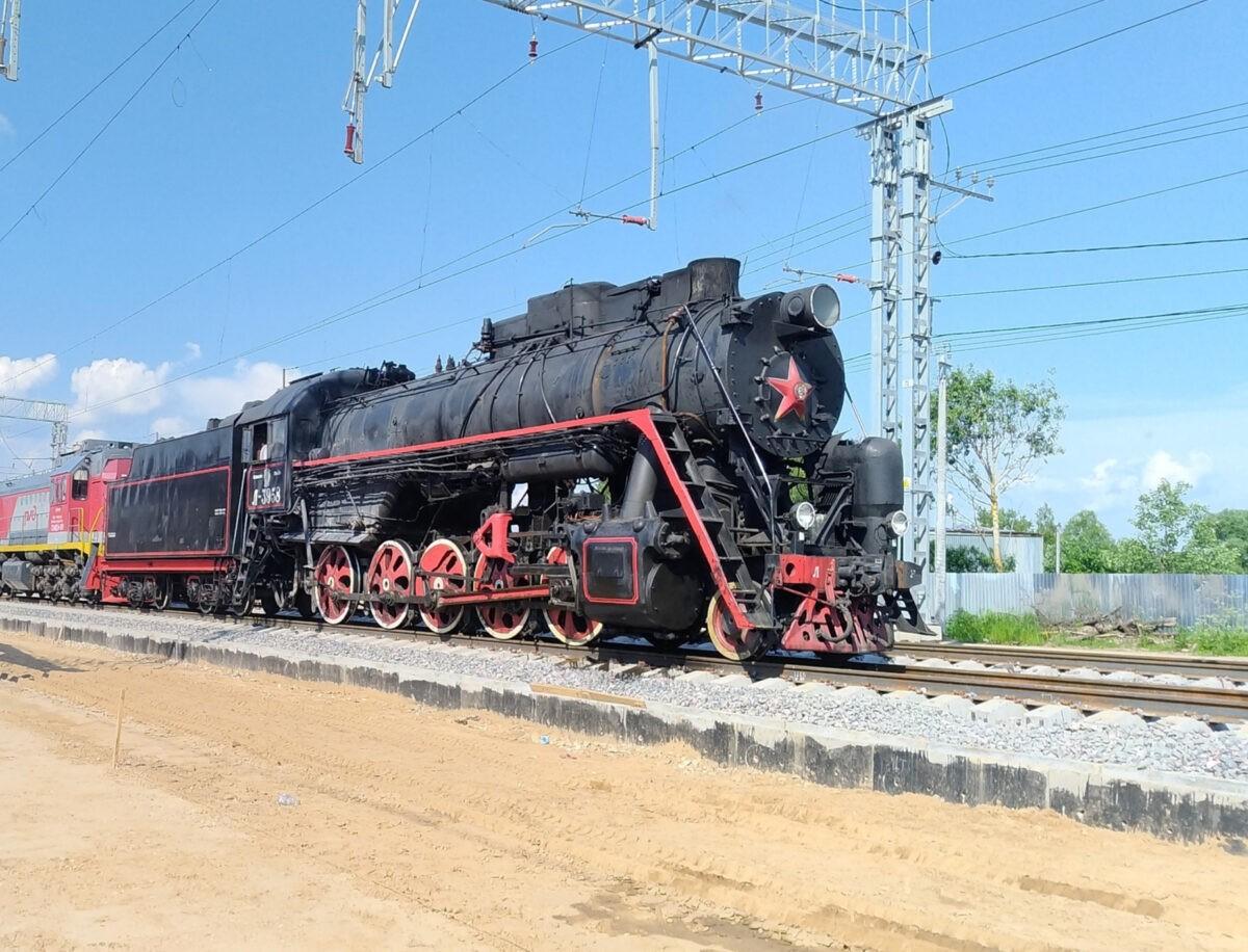 На станцию Савёлово в Кимрах прибыл ретропоезд Л-3958