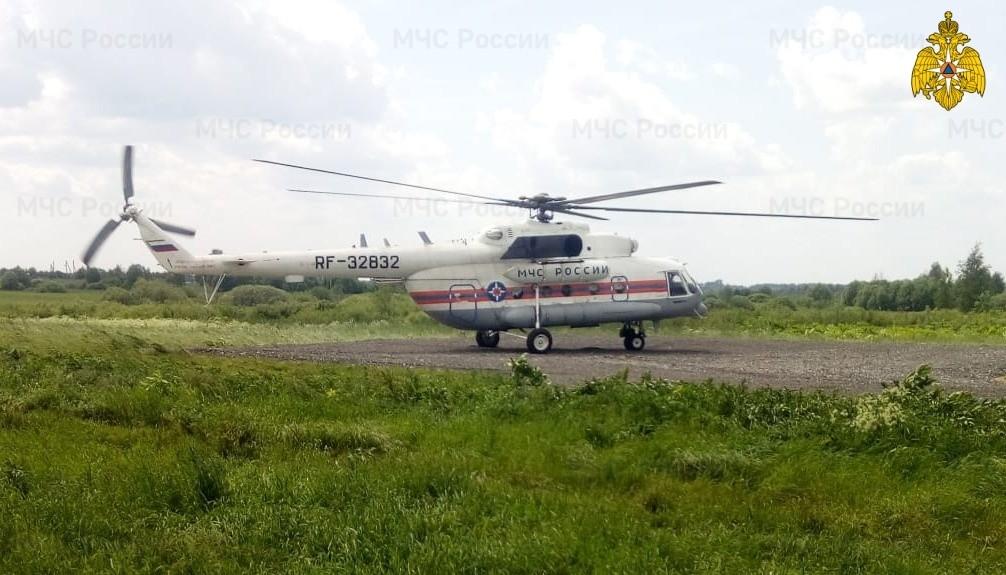 Жителя Тверской области транспортировали на вертолёте санавиации