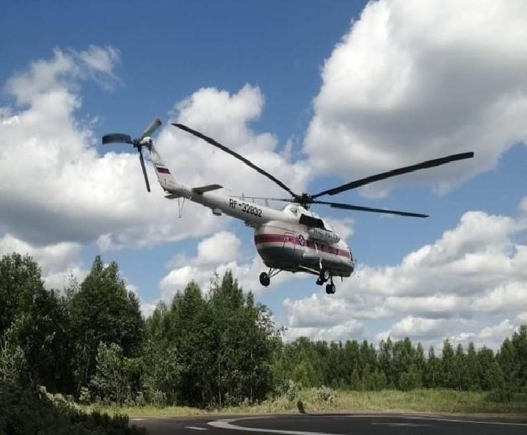 Женщину из районной больницы доставили на вертолёте в Тверь