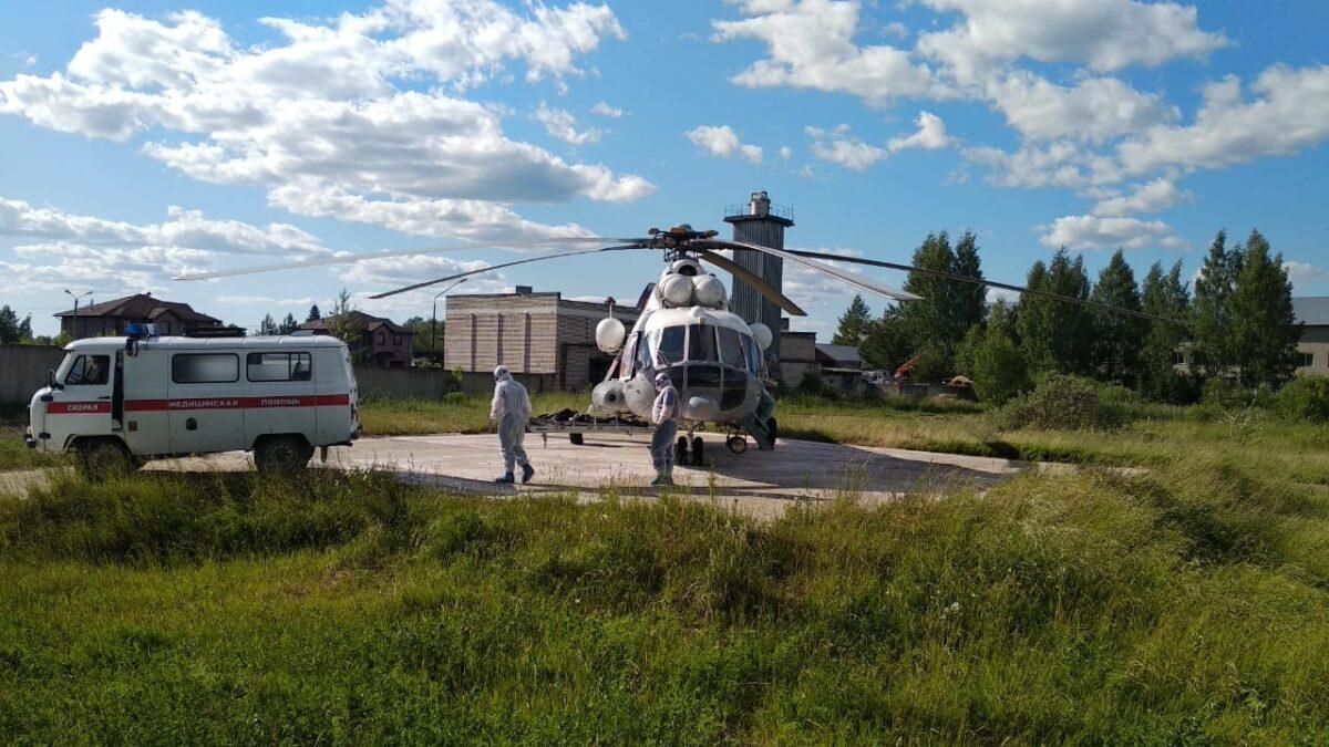Трёх жителей Тверской области транспортировали вертолётом санавиации за один вечер