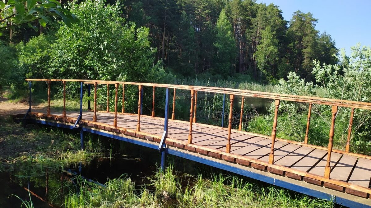 В Тверской области жители сами построили мост через озеро