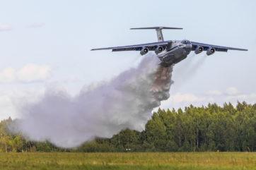 Тверские летчики на Ил-76 потушили условный крупный пожар