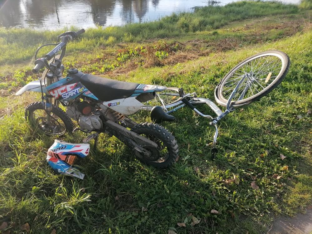В Тверской области 14-летний мотоциклист сбил 12-летнего велосипедиста
