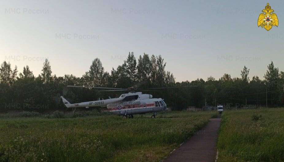 Ребёнка экстренно доставили на вертолёте в больницу Твери