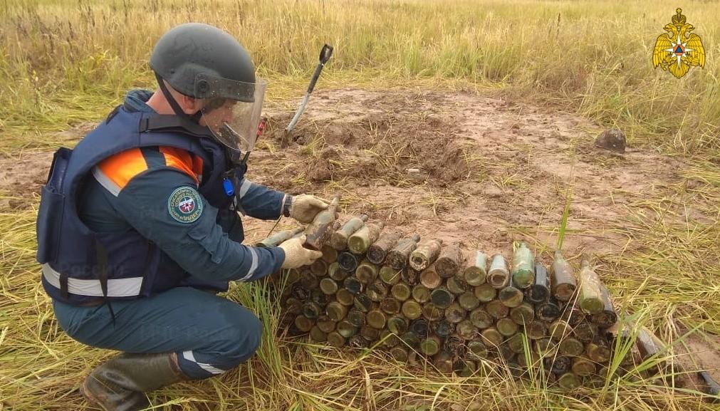 Пиротехники нашли в Тверской области почти 200 бутылок с зажигательной смесью