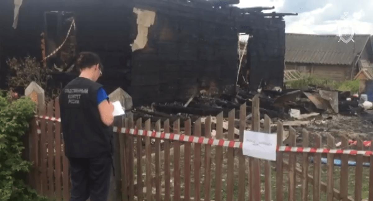 Опубликовано видео с места страшного пожара в Тверской области
