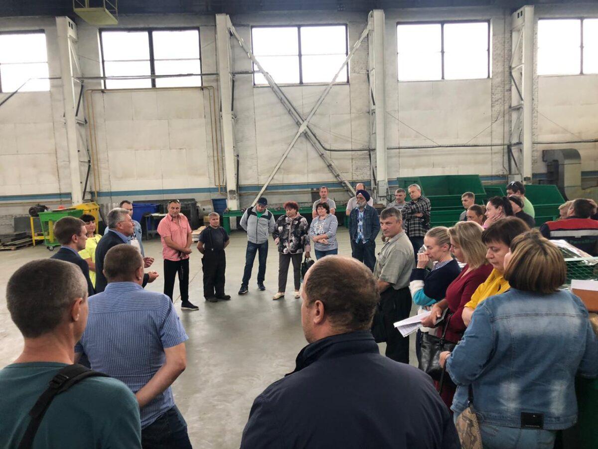 Андрей Белоцерковский посетил во Ржеве завод по спасению экологии