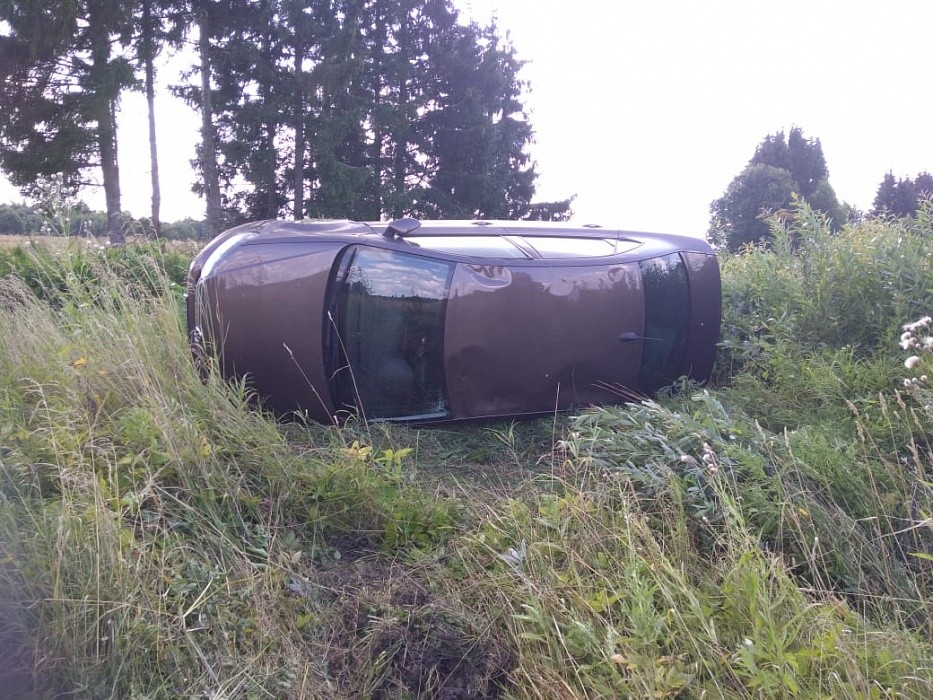 10-летняя девочка пострадала в опрокинувшемся автомобиле в Тверской области