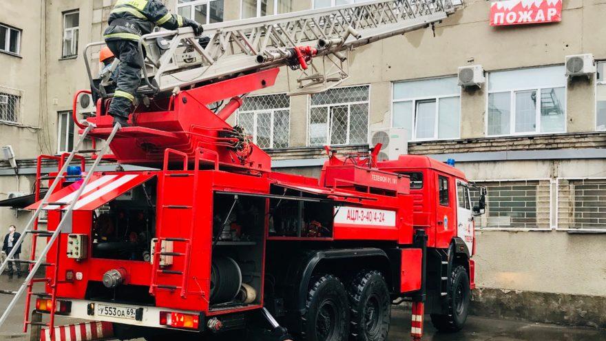Тверская почта провела пожарно-тактические учения