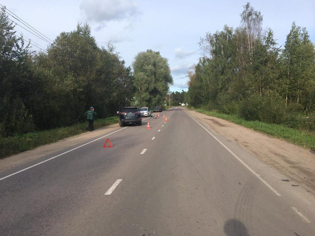 Из-за непродуманного маневра 9-летний велосипедист попал в ДТП в Тверской области