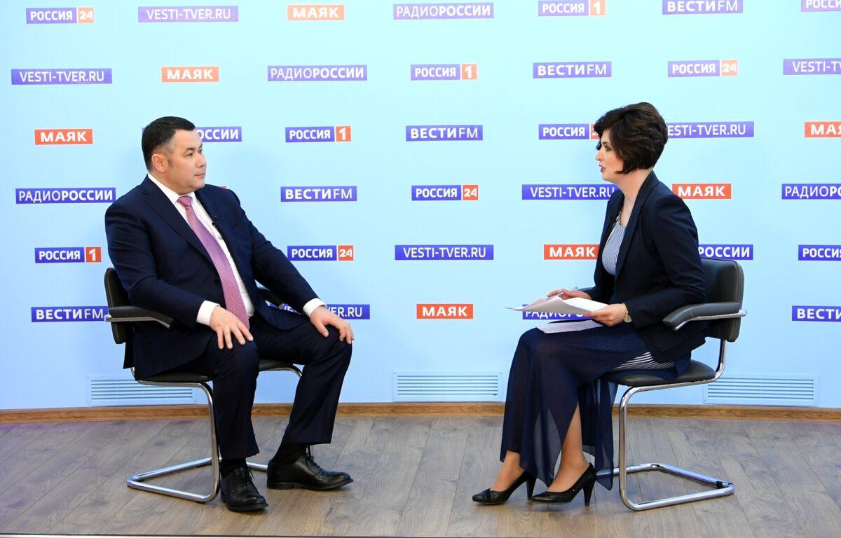 Губернатор Игорь Руденя расскажет о коронавирусе и мерах безопасности в школах Тверской области