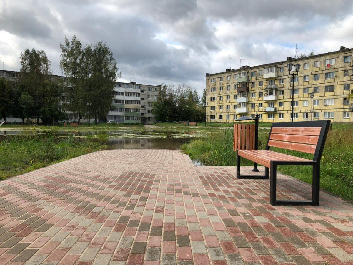 Под Тверью новый сквер превратился в озеро