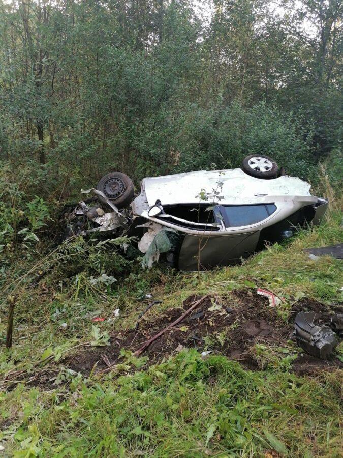Молодой водитель врезался в дерево на трассе в Тверской области