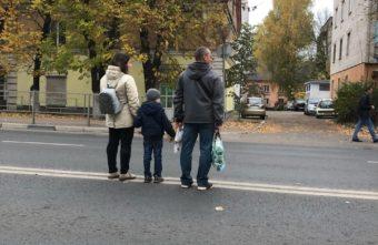 Фото дня: в Твери водители наблюдали отчаянную семью на дороге