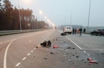 Мотоцикл разлетелся на части в ДТП в Тверской области