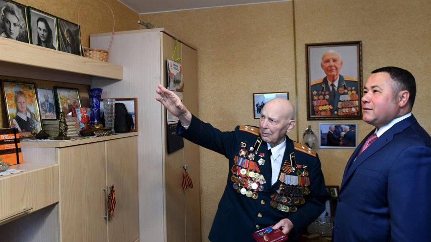 Тверским ветеранам ордена Почета губернатор вручал лично дома